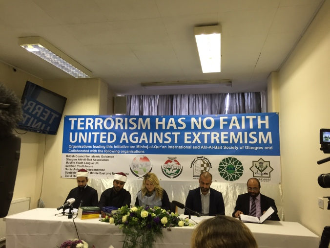 From Left to Right: Shaykh Hassan Rabbani, Shaykh Rehan Raza, Pauline McNeill, Ahmed Khweir, Dr Javed Gill