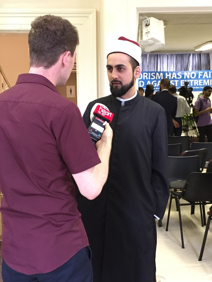 Interview with local media